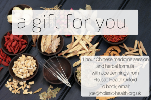 Chinese medicine consultation plus herbs gift voucher